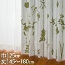 KEYUCA(ケユカ) カーテン ドレープ グリーン 形状記憶 遮光3...