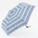 KEYUCA(ケユカ) 折畳傘 晴雨兼用 ブラ—ストライプ ネイビーブ...