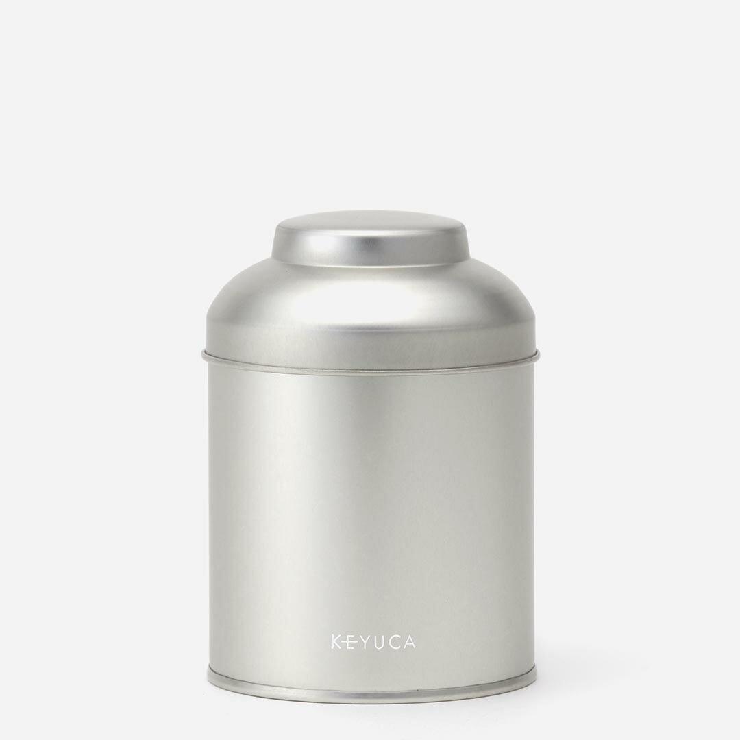 【KEYUCA公式店】ケユカ [日本製] 紅茶缶 100g[キャニスター缶 かわいい 保存容器 紅茶 シルバー スチール 小さいサイズ キッチン雑貨 収納 密閉 中蓋付き 中フタ付き シンプル 通販] 【グッドプライス】