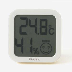 KEYUCA(ケユカ)デジタル温湿度計[温湿時計温度計湿度計デジタルおしゃれオシャレモダンシンプルデザイン熱中症対策インフルエンザ出産祝い内祝い新築祝いギフトプレゼントナチュラル通販楽天]【グッドプライス】