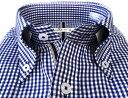メンズ ワイシャツ 長袖 形態安定 シャツ ブルー ギンガム チェック ボタンダウン ビジネス おしゃれ KF2052-4 3