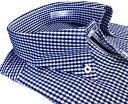 メンズ ワイシャツ 長袖 形態安定 シャツ ブルー ギンガム チェック ボタンダウン ビジネス おしゃれ KF2052-4 2