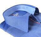 メンズワイシャツ長袖形態安定シャツブルーオックスセミワイドカラーシャツビジネスおしゃれKF2046-3