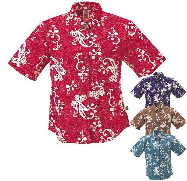 かりゆしウェア かりゆしウェアレディース 沖縄産アロハシャツ 月桃物語 月桃柄 シャツカラー リゾートウェディング 結婚式 ギフト プレゼント 母の日