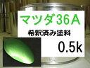 マツダ36A 塗料 希釈済み 1液 スピリティッドグリーンM