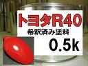 トヨタR40 塗料 シャイニングレッド レッド 希釈済