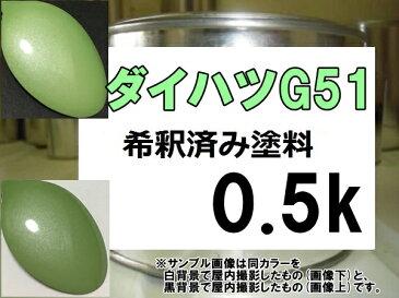ダイハツG51 塗料 マスカットグリーンM タント 希釈済