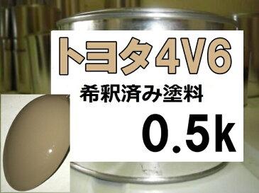 トヨタ4V6 塗料 ベージュ FJクルーザー 希釈済