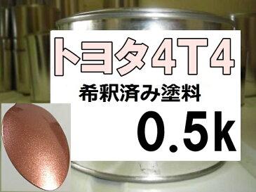 トヨタ4T4 塗料 カッパーM カローラフィールダー 希釈済