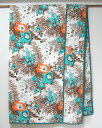 マルチカバー・ナチュラル・カントリー・花柄・メロウフラワー・グリーン・ベッドカバー・シングル・225×150