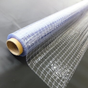 【法人様直送限定】【代引不可】ハイパーカーテン 糸入透明 HCTI03203050A20.3mm×203cm幅×50m巻=1巻