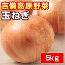 吉備高原の美味しい・安全・安心♪【岡山産】玉ねぎ5kg