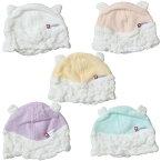 HACOON 白雲 ベビーキャップ 赤ちゃん用帽子 雲の上のタオル クマ耳 日本製