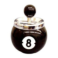 ビリヤード灰皿 AR-098 8ボール ブラック 回転灰皿