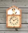【木の時計】「キコリの時計」 木の振子時計 【イヌとホネの時計】 spr05P05Apr13