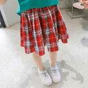【メール便送料無料】キッズ スカート 韓国子供服 ミニ丈スカート チェック柄 ガールズ 女の子 韓国 子ども服 プリント 100cm 110cm 120cm 130cm 140cm 150cm