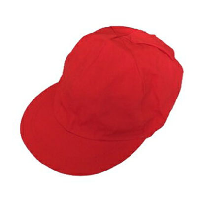 男児女児兼用紅白帽子
