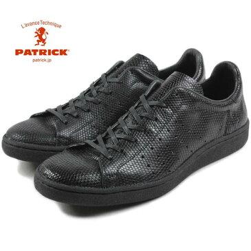 【靴ひも通しサービス実施中】交換・返品 送料無料(沖縄県を除く) パトリック PATRICK LIZARD-P リザード パンチ BLK ブラック 15631【FKOF】