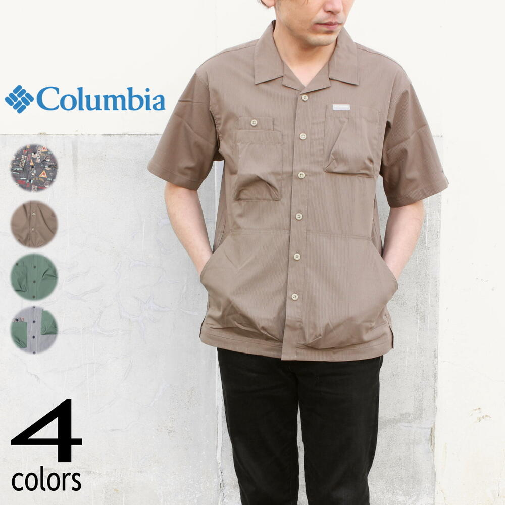 トップス, カジュアルシャツ  Columbia Hewson Park Short Sleeve Shirt PM0069 (010) (252) (369) (465)WAGFOH
