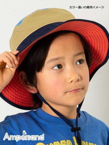 [ネコポス確認]日よけ帽子メッシュハットキッズ男の子女の子首ガード首元熱中症対策夏エフオーキッズアンパサンドアウトドアハット50cm52cm54cm56cmL268079子供ブルーデニムピンクノベ対象新作19春夏アゴひも
