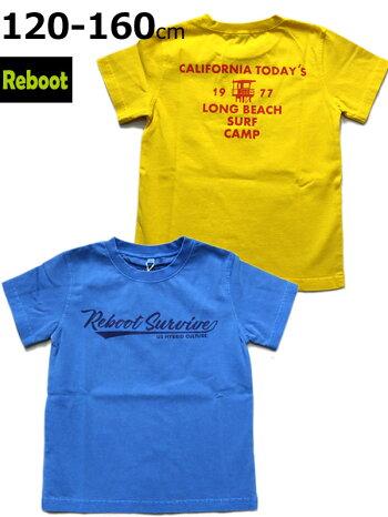 リブートRebootTシャツ120cm130cm140cm150cm160cm1981-306子供服キッズジュニア男の子女の子ブルーイエローノベ対象新作19春夏