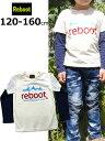 リブート Reboot レイヤード風 Tシャツ 長袖Tシャツ 重ね着風 120cm 130cm 140cm 150cm 160cm ネイビー ロゴ 1971406 子供服 キッズ ジュニア 男の子 女の子 新作 19春夏 ノベ対象 ホワイト