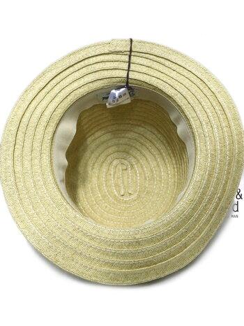 帽子キッズ女の子カンカン帽ストローハットリボンオーシャンアンドグラウンドペーパーブレードハット54cm56cm1913112子供服ジュニア新作19春夏OCEAN&GROUND熱中症対策麦わら帽子