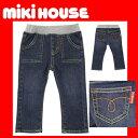 ●メール便送料\160●【MIKI HOUSE★ミキハウス】ホットビのびのびジーンズ【80・90・100・110cm】