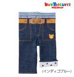 ●【MIKIHOUSE★ミキハウス】ホットビ☆デニム風8分丈スパッツ【80・90・100cm】