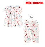 ●【MIKIHOUSE★ミキハウス】リボンいっぱい♪うさこ半袖パジャマ【80・90・100・110・120・130cm】