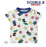 ●【MIKIHOUSE★ミキハウス】SURFハイビスカス半袖Tシャツ【80・90cm】