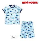 ●【MIKIHOUSE★ミキハウス】くじら&プッチー☆半袖パジャマ(6分丈パンツ)