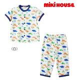 ●【MIKIHOUSE★ミキハウス】恐竜さんいっぱい☆半袖パジャマ