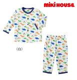 ●【MIKIHOUSE★ミキハウス】恐竜さんいっぱい☆長袖パジャマ