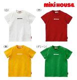 ●【ミキハウス*】mikihouseロゴプリントシンプル半袖Tシャツ【80・90・100・110・120cm】
