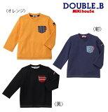 ●【ミキハウス*ダブルB】EverydayDOUBLE_BTシャツ【80・90・100・110・120・130cm】