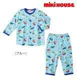 ●【MIKIHOUSE★ミキハウス】宇宙飛行士プッチー前開き長袖パジャマ