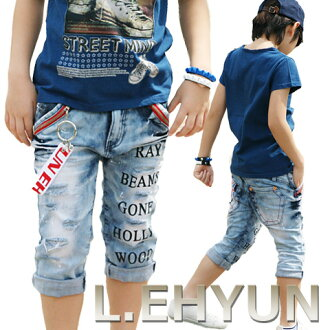 Summer SALE items! L.EHYUN crash mesh cropped-length denim (5-13 SIZE) purchased with s Korea kids clothes L.EHYUN/kidsmio? t 100 cm, 110 cm, 120 cm, 130 cm, 140 cm, 150 cm, 160 cm 6,000 yen (tax excluded)