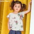 【今だけPOINT10倍】韓国子供服GREEN TOMATO 袖フレア 花柄 半袖 Tシャツ《子供服キッズミオ》 100cm 110cm 120cm 130cm 140cm 150cm 女の子 ガールズ 春 夏 花柄