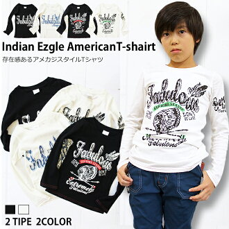 "Korea kids clothing Eagle & Indian American vintage t-shirt 6480 Yen more than 140 cm 150 cm? s stylish kids Mio""100 cm 110 cm 120 cm 130 cm in the purchase's"