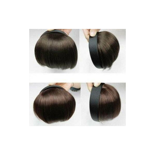 カチューシャ付き前髪ウィッグ2タイプエクステつけ毛ポイントウィッグボブかつら送料無料簡単イメチェン