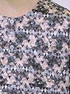 メンズパジャマ/シルク半袖半ズボン【アート】ダーク