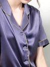 19匁シルク100%ネグリジェ無地青紫色パープル