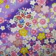 和柄生地 桜満開柄 紫 【生地 和柄 布】