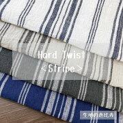 生地強撚ストライプ麻リネン100%先染め平織り中国製
