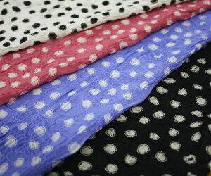 ポリエステル100%花柄の刺繍レースにランダム・ドットプリント♪シフォンジョーゼット♪日本製高級生地布生地布地服地通販激安ポリエステル10cm単位シフォンジョーゼットドット柄