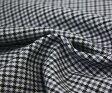 ウール50%ポリエステル50%先染めガンクラブチェック♪綾織り♪薄グレー地にグレー&黒のチェック♪生地幅150cm♪防縮加工 布 生地 布地 服地 通販 チェック チェック柄 ウール ウール生地 w巾150cm