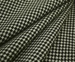 日本製ウール100%紡毛ツイード調白黒千鳥格子♪W巾150cm 防縮加工布 生地 布地 服地 通販 激安 ...