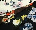 とってもソフト ウールブレンド・ビエラジョーゼット調花柄プリント全4色 マフラー,ショール,ストール,チュニックに 薄手・やや透け感あり 布 生地 布地 服地 通販 ウール レーヨン ウール生地 膝掛け 日本製 50cm以上10cm単位
