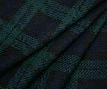 ポリエステル100%ニット・先染めブラックウォッチ/タータンチェック♪ジャケットパンツスカートに♪日本製布生地布地服地通販激安ジャージーニット生地